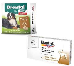 Vermífugo Bayer Drontal Plus Vermífugo  para Cães de até 35kg - 2 Comprimidos Sabor Carne