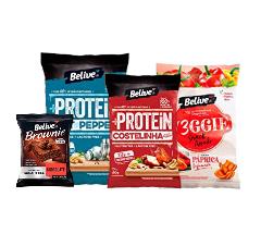Snack +Protein Costelinha ao Molho Barbecue com 7,3G de Proteínas Vegetais Snack Proteico sem Glúten sem Lactose Belive 35g