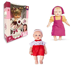 Boneca Mel Anjo Rosa