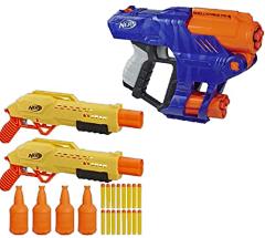 Lanca Dardos Nerf Alphastrike Tiger Com Target - E8313 - Hasbro Nerf Lanca Dardos Nerf Alphastrike Tiger Com Target Amarelo E Laranja