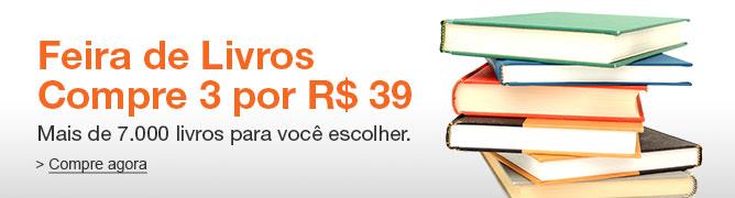 Feira de Livros: Compre 3 livros por R$ 39