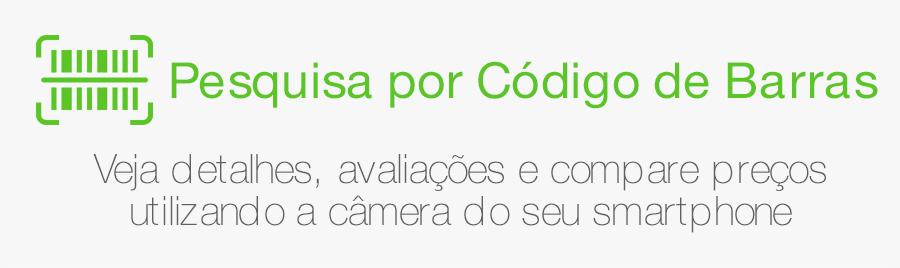 Pesquise por Código de Barras - Veja detalhes, avaliações e compare preços utilizando a câmera do seu smartphone.