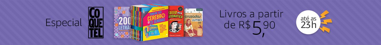 Especial Coquetel: Livros a partir de R$5,90