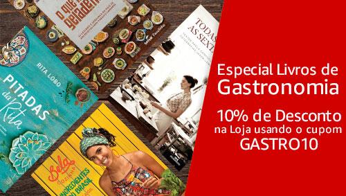 Cupom de desconto para livros de Gastronomia