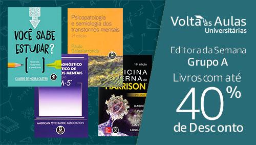 Editora da Semana Grupo A: Livros com até 40% de desconto