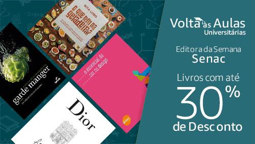 Editora da Semana Senac: livros com até 30% de desconto