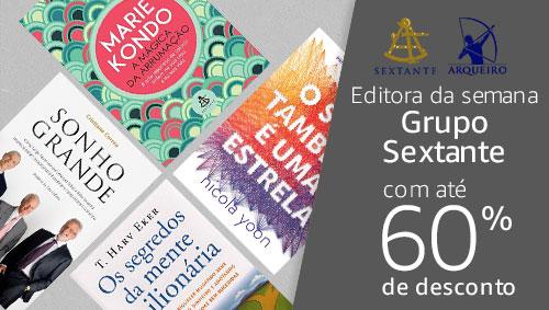 Editora da semana: Grupo Sextante com até 60% de desconto