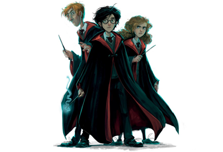 Ron, Harry e Hermione