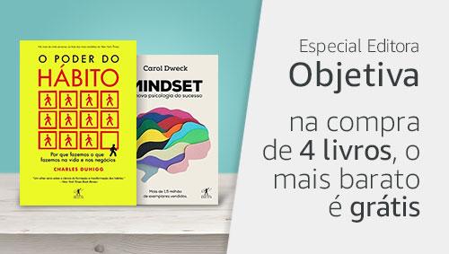 Especial Editora Objetiva: na compra de 4 livros, o mais barato é grátis