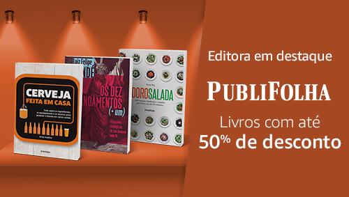 Editora em destaque Publifolha - Livros com até 50% de desconto