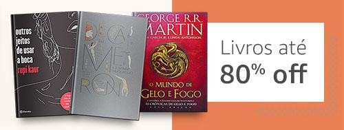 Livros até 80% off