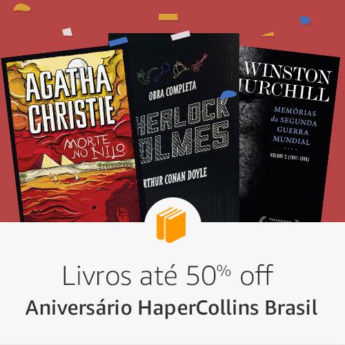 Aniversário HarperCollins Brasil - Livros até 60% off