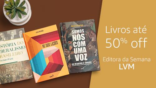 Livros até 50% off - Editora da Semana LVM