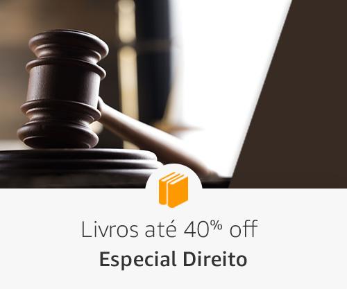Livros até 40% off - Especial Direito