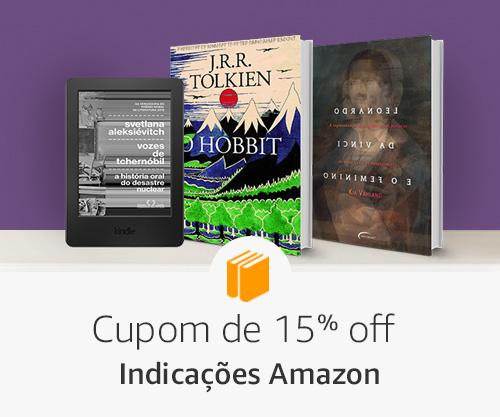 Indicações amazon- 15% off em livros