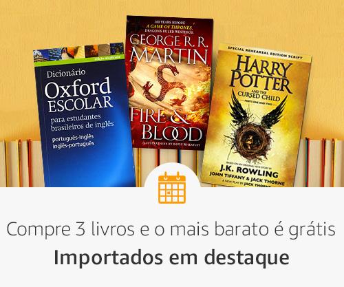 Compre 3 livros e o mais barato é grátis- Livros importados
