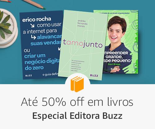 Até 50% off em livros - especial editora buzz