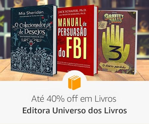 Até 40% off em Livros: Editora Universo dos Livros