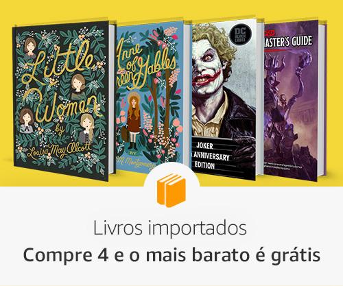 Livros importados: Compre 4 e o mais barato é grátis