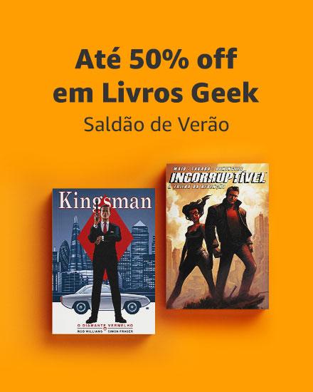 Até 50% off em Livros Geek