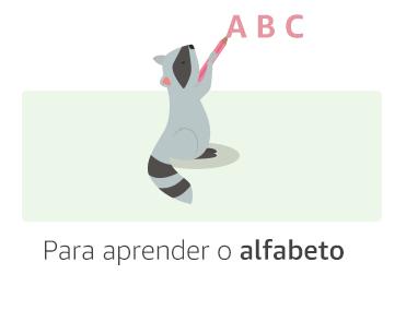Para aprender o alfabeto