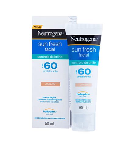 Neutrogena Sun Fresh Facial Oil Control FPS 60 com cor