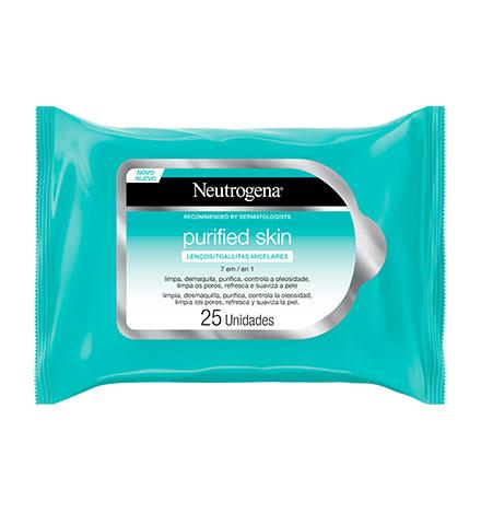 Removedor de Maquiagem Cleaning Wipes, Neutrogena, 25 unidades