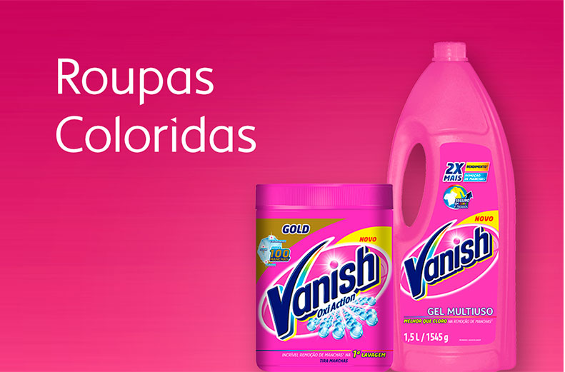 Vanish Roupas Coloridas