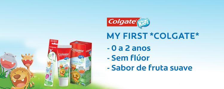 Colgate Kids My First - De 0 a 2 anos, Sem fluoe e com Sabor de fruta suave
