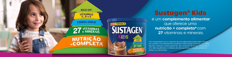 Sustagen Kids é um complemento alimentar que oferece uma nutrição + completa com 27 vitaminas e mineirais
