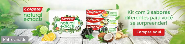 Colgate Natural Extracts. Patrocinado.