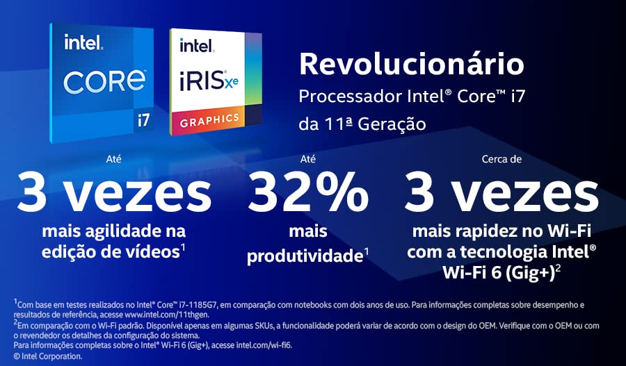 Intel Core i7 da 11a Geração. Revolucionário