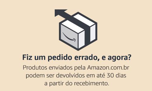 Fiz um pedido errado, e agora? A Amazon.com.br aceita a devolução de produtos físicos em até 30 dias após a data de recebimento do pedido.