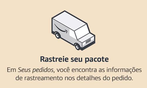 """Rastreie seu pacote. Em """"Seus Pedidos"""", você encontra as informações de rastreamento nos detalhes do pedido."""