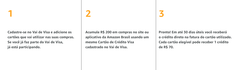 Acesse: vaidevisa.com.br/amazon e confira como participar.