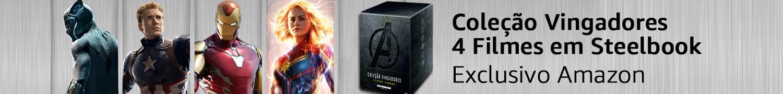 Coleção Vingadores: 4 Filmes em Steelbook