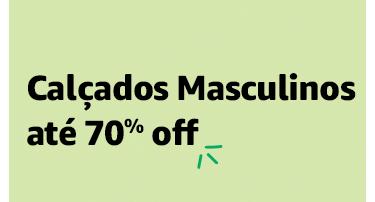 Calçados Masculinos até 70% off