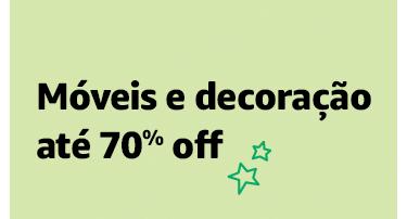 Móveis e decoração até 70% off