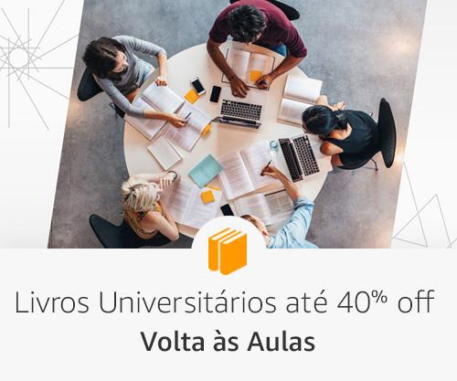 Livros Universitários até 40% off
