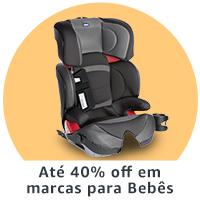 Até 40% off em marcas para Bebês