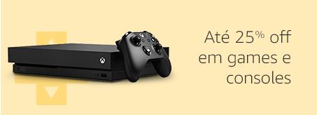 Até 25% off em games e consoles
