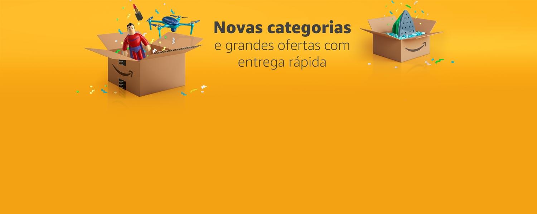 Novas categorias e grandes ofertas com entrega rápida