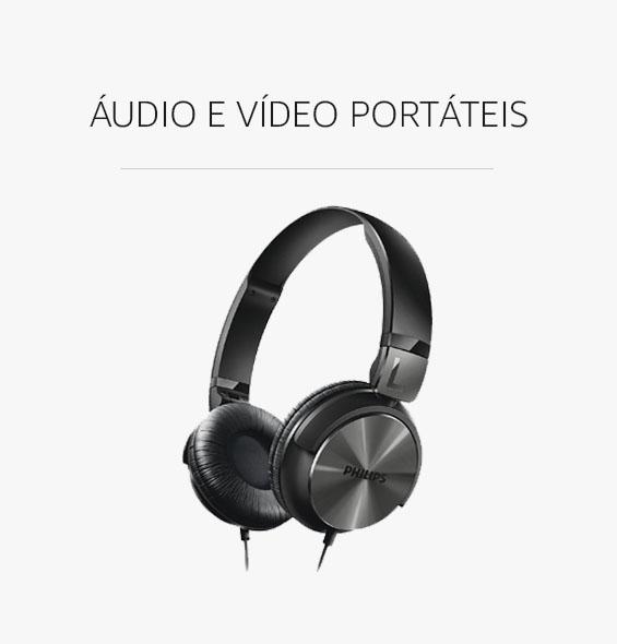 Áudio e Vídeo Portáteis com Desconto