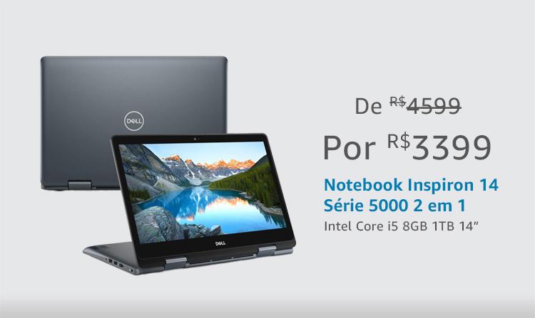 "Notebook 2 em 1 Intel core i5 8GB 1TB 14"""