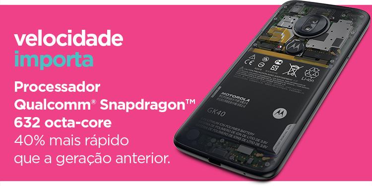 Velocidade importa. Processado Qualcomm Snapdragon 632 octa-core 40% mais rápido que a geração anterior