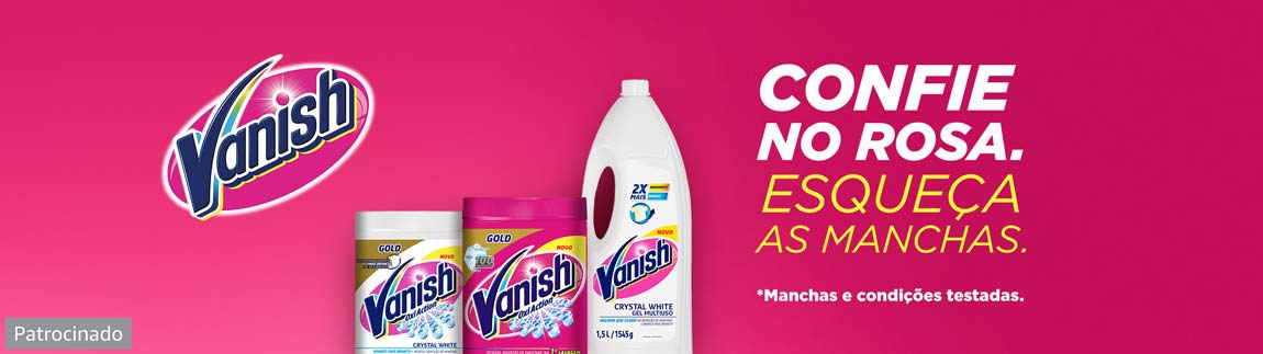 Vanish remove 100 manchas até as de suor