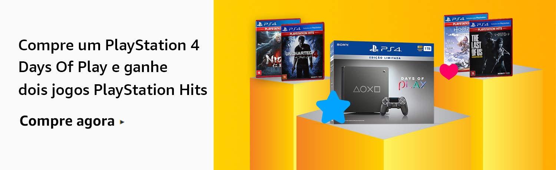 Compre um PS4 Days of Play e ganhe 2 Hits