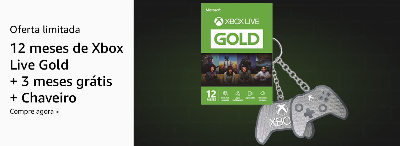 Xbox Live Gold 15 meses + Chaveiro