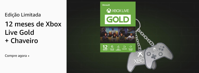 Xbox Live Gold + Chaveiro