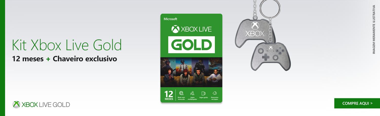 Xbox Live Gold 12 meses + Chaveiro Exclusivo